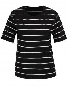 Černé pruhované tričko s krátkým rukávem ONLY Live Love
