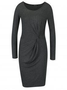 Tmavě šedé šaty s řasením ONLY Rina