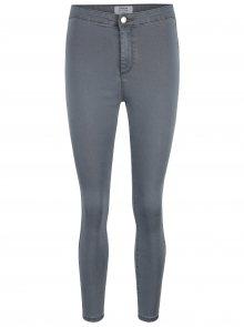 Šedé skinny džíny s vysokým pasem Miss Selfridge