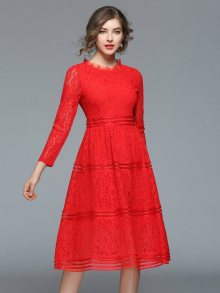 Ferraga Dámské šaty QE286 Red