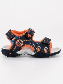 Pohodlné modré chlapecké sandály