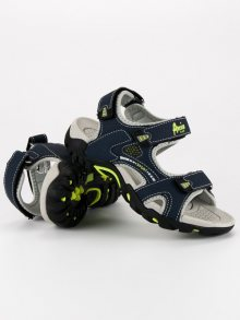 Lehké modré chlapecké sandály na suchý zip