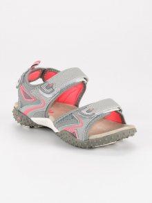 Sportovní šedé dívčí sandály