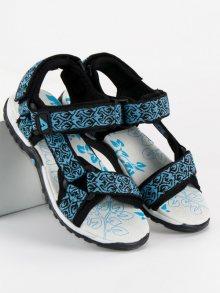 Dívčí modré sandály na suchý zip