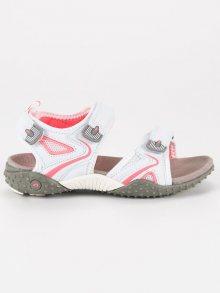 Sportovní bílé dívčí sandály