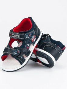 Luxusní modré chlapecké sandály