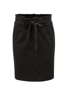 Černá sukně s páskem VERO MODA Eva
