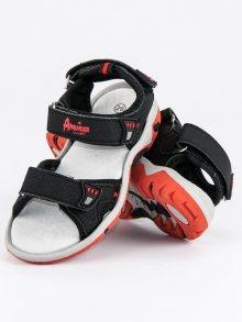 Krásné černé letní dětské sandále