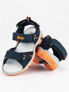 Sportovní modré dětské sandály