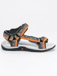Sportovní šedé dětské sandály
