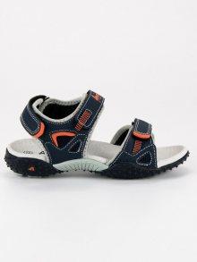 Modní modré dětské sandály na suchý zip