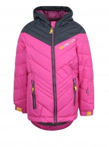Růžová holčičí zimní funkční voděodolná bunda LOAP Omrava