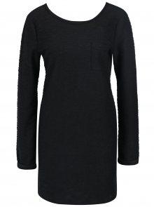 Černé vzorované dámské šaty se šněrováním na zádech Roxy Oceanic