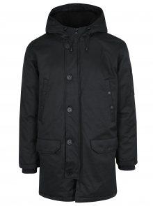Černá zimní péřová bunda s kapucí Lindbergh