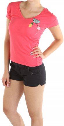 Dámské růžové tričko s nášivkou Cache Cache