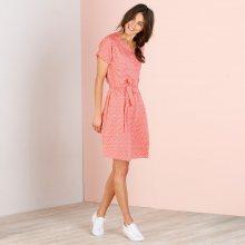 Blancheporte Vzdušné šaty s páskem korálová 40