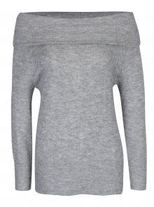 Světle šedý svetr s odhalenými rameny Jacqueline de Yong Alice
