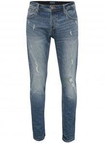 Modré slim fit džíny s potrhaným efektem Jack & Jones Tim