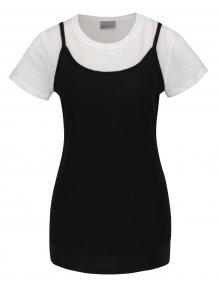 Bílo-černé tílko s všitým tričkem VERO MODA Noor