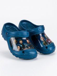Chlapecké modré gumové nazouváky