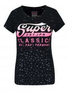 Tmavě modré dámské tričko s potiskem Superdry Classic