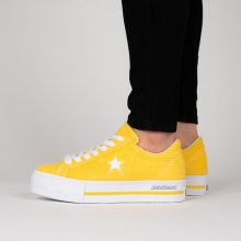 Boty - Converse | ŽLUTÁ | 35 - Dámské boty sneakers Converse One Star Platform OX \