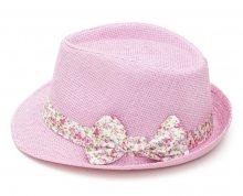 Art of Polo Dámský letní klobouk s mašlí - růžovobílý cz15161.7 56 cm