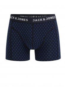Tmavě modré vzorované boxerky Jack & Jones Candy