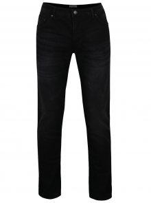 Černé džíny s vyšisovaným efektem Shine Original