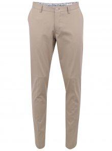Béžové pánské chinos kalhoty Bertoni Beck