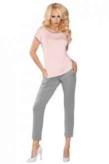 LivCo Corsetti 101 dámské pyžamo L/XL šedo-růžová