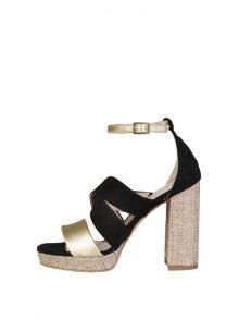 Made in Italia Dámské sandály na podpatku OFELIA_CAMOSCIO_NERO\n\n