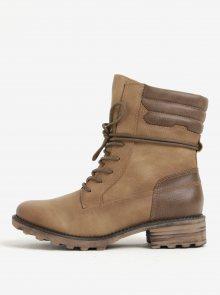 Hnědé zimní kotníkové boty Tamaris