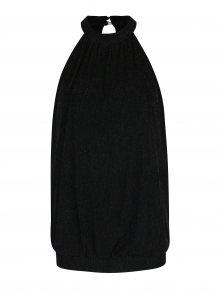 Černý volný top s barevnými třpytivými detaily ONLY Kailee