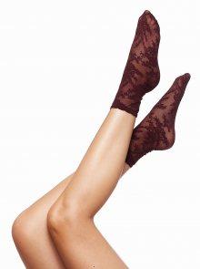 Vínové vzorované ponožky Oroblu Marisol