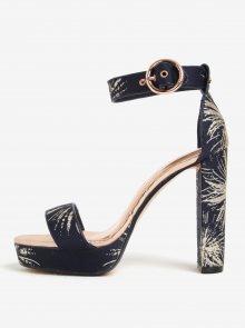 Zlato-modré vzorované sandálky na platformě Ted Baker Jewll