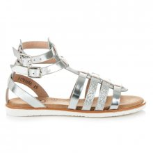Dokonalé stříbrné páskové dětské sandálky
