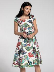 Naoko Dámské šaty AT173_BUTTERFLIES_ECRU