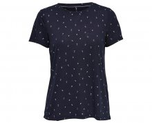 ONLY Dámské triko Isabella S/S Foil Aop Top Box Jrs Night Sky XS