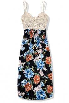 Černé květinové maxi šaty