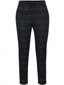 Tmavě šedé kostkované žíhané kalhoty VERO MODA Rory