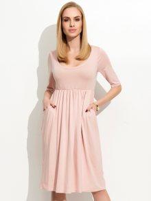 Folly Dámské šaty F19_powder pink