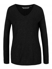 Černé dámské tričko s průsvitným detailem na zádech Garcia Jeans