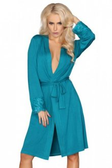 LivCo Corsetti fashion dámský župan Brenda L/XL tyrkysová