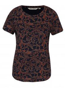 Cihlovo-modré dámské tričko se vzorem Garcia Jeans