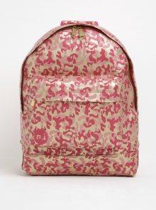 Zlato-růžový dámský vzorovaný batoh Mi-Pac Metallic Camo