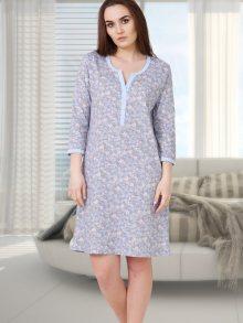 Family pyjamas Dámská noční košile NIGHTDRESS MIRA 563 LIGHT BLUE\n\n