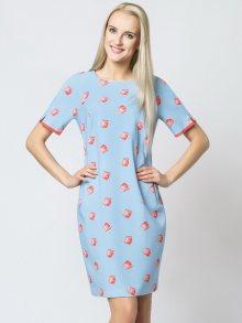 Margo Collecttion Dámské šaty DRESS 609 BLUE