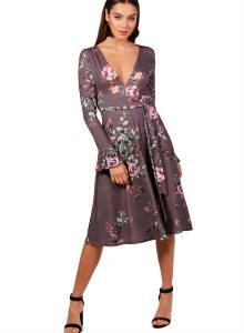 362ad9d1d8df Nabírané floral šaty Ayra