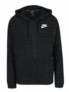 Černá dámská žíhaná mikina s kapucí Nike Sportswear Advance 15